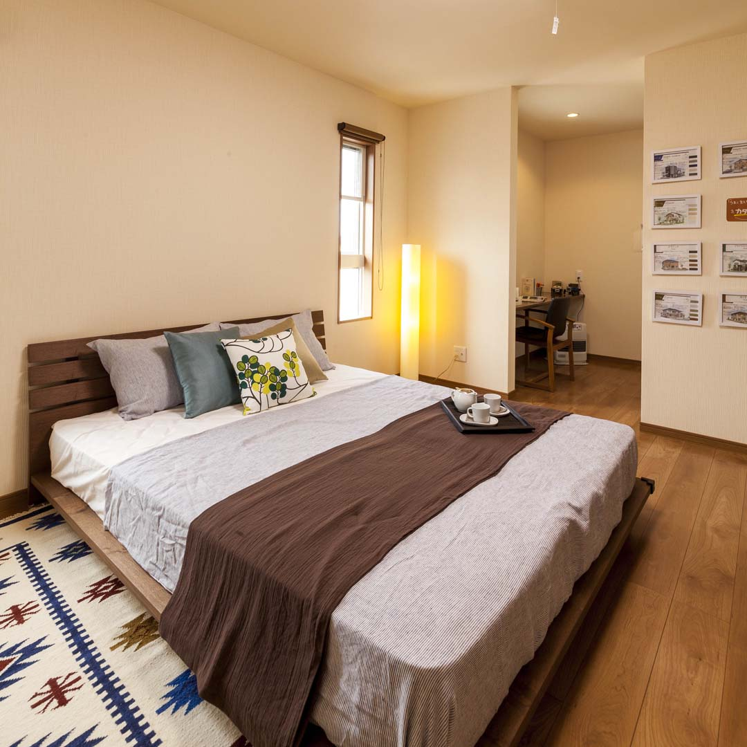 モデルハウス12の寝室写真