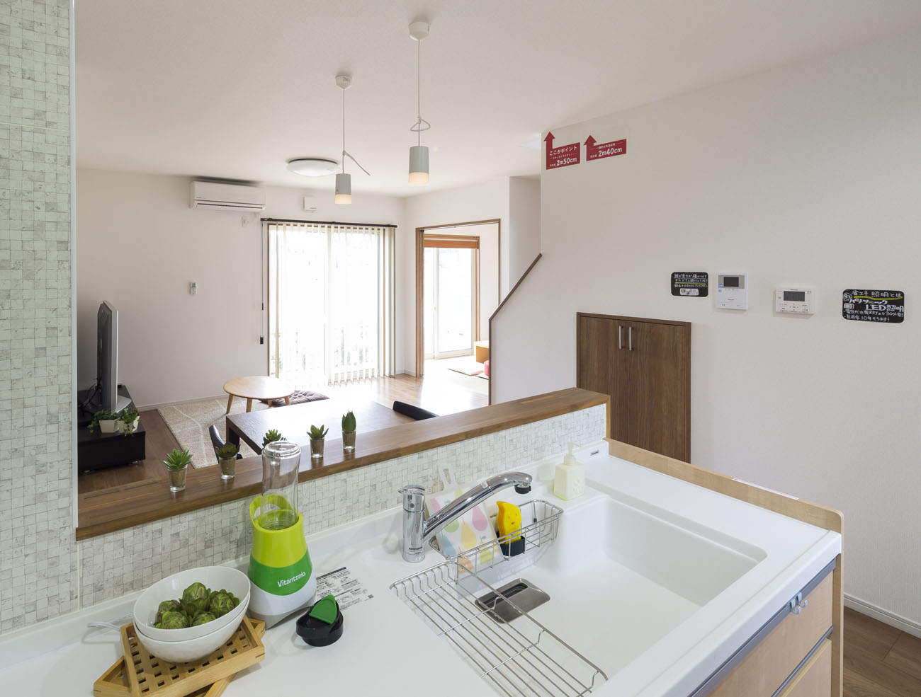 モデルハウス16号のキッチン写真
