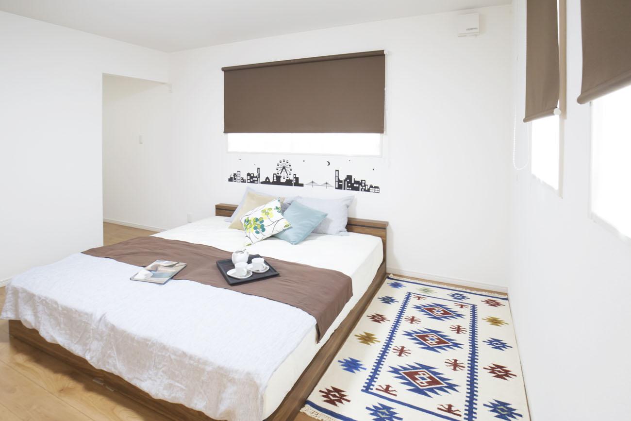モデルハウス18号の寝室写真